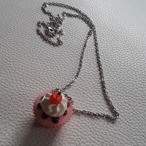Vintage birthday cake necklace